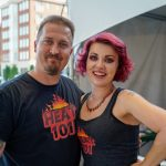 Couple at Fiery Foods Festival