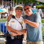 Mike Gallicchio and Officer Columbus Summer Wine Festival